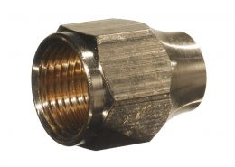 "REDUCING FLARE NUT 1/2"" x 3/8"""