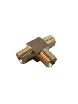 TEE BRASS MALE SEATED 1/4 BSPP