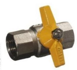 "BALL VALVE 3/8"" F&F BUTTERFLY HANDLE"
