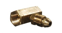 BRASS POL M&F TEE MANIFOLD - SHORT HARD NOSE