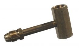 BRASS POL M&F TEE MANIFOLD - LONG HARD NOSE